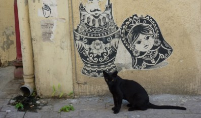 Tel-Aviv City Street Graffiti Art