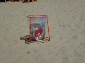 garbage-bin-on-the-beach