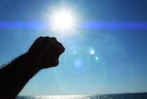 Punching the Sun