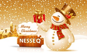 Merry Christmas Greeting Wallpaper by Nesseq