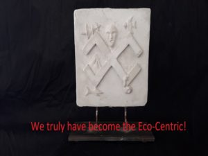 Statue by Max Nadel Eco-Centric